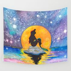 Buy The Little Mermaid Galaxy Wall Tapestry by Brietron Art. Worldwide shipping available at Society6.com. Just one of millions of high quality products available.