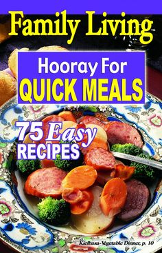 Leisure Arts - Family Living: Hooray for Quick Meals, $0.50 (http://www.leisurearts.com/products/family-living-hooray-for-quick-meals.html)