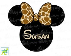 Leopard Minnie Ears Printable Iron On Transfer - DIY Disney Shirt ...