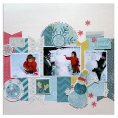 Winter Addition Project Layouts Idea from Creative Memories