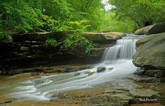 Summer deepens along Drawdy Creek at its falls near Peytona, WV, in Boone County.