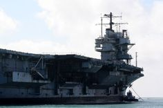 USS Forrestal arrives at Brownsville, TX for scrapping