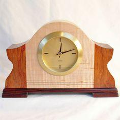 Winged Tambour Retro Modern Wood Clock
