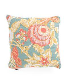 20x20 Chainstitch Floral Pillow