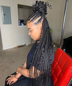 Pin On African Hair With Extensions Braiding Plaiting