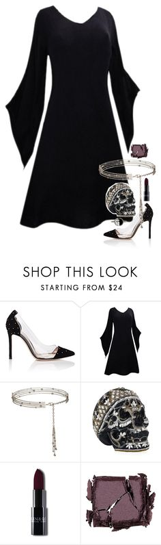 """Untitled #2583"" by tapping-raven ❤ liked on Polyvore featuring Gianvito Rossi, Judith Leiber, Surratt and Bony Levy"