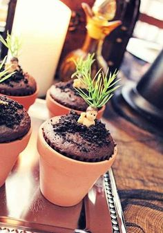 Mandrake cupcakes for Harry Potter Bday. This list is GENIUS!