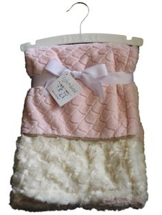 New Kyle And  amp  Deena Girl Pink White Swirl Burout Baby Blanket Security  30