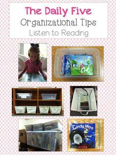 Daily Five Organization  schoolisahappyplace.blogspot.com