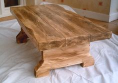 Hand Made Rustic Coffee Table 005 by rusticfare on Etsy https://www.etsy.com/listing/188730759/hand-made-rustic-coffee-table-005