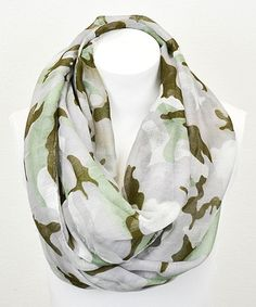 Another great find on #zulily! Taupe Camo Infinity Scarf by Leto Collection #zulilyfinds