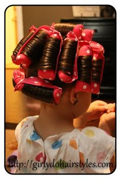 Homemade curlers! No hard plastic to sleep on! Even add rice in and microwave before use and they could be heated rollers.  How neat.
