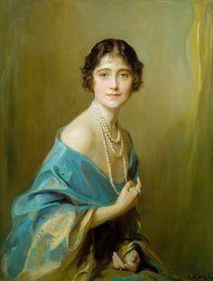 Elizabeth Bowes-Lyon, Duchess of York later Queen Elizabeth of Great Britain / By Philip de László.
