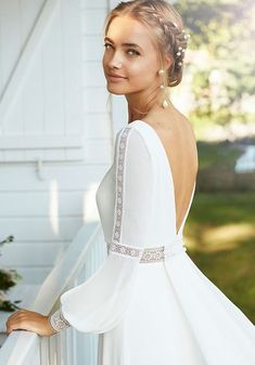 Boho Wedding Dress With Sleeves, Civil Wedding Dresses, Wedding Dress Trends, Dream Wedding Dresses, Bridal Dresses, Wedding Gowns, Lace Dress, Dresses With Sleeves, Wedding Dresses With Cape