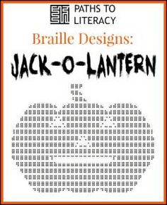 This braille design of a jack-o-lantern is a great project for Halloween!