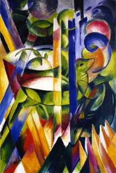 The Little Mountain Goats Artwork By Franz Marc Oil Painting & Art Prints On Canvas For Sale Franz Marc, Illustration Mode, Illustrations, Wassily Kandinsky, Cavalier Bleu, George Grosz, Francis Picabia, Expressionist Artists, Abstract Expressionism