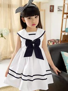 Cheap cotton girl dress, Buy Quality girls dress directly from China dresses for girls Suppliers: 2018 children's clothes girls dresses school style bow sleeveless cotton girls dresses for girls big kids summer princess dress Dresses Kids Girl, Kids Outfits Girls, Girl Outfits, Kids Frocks Design, Baby Frocks Designs, Cotton Frocks For Girls, Cotton Dresses, Kids Clothes Patterns, Kids Gown