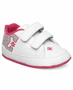 DC Shoes Kids Shoes, Baby Girls or Baby Boys Court Graffik Crib Shoes - Kids Kids' Shoes - Macy's
