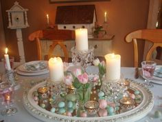 Shabby chic style pastel table setting!
