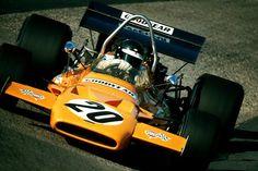 Peter Kenneth Gethin (GBR) (Bruce McLaren Motor Racing), McLaren M19A - Ford V8 (DNF) German Grand Prix, Nürburgring Nordschleife, 1971.