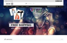 """Zeon"" - for Blog, eShop, #online store, #eCommerce website. #WordPress Theme with clean, #modern, responsive design."