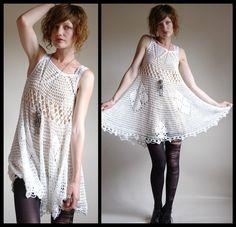 TRICO y CROCHET-madona-mía: Vestidos en crochet- modelos