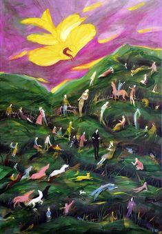 Original Fantasy Painting by Rolf Jansson Original Art, Original Paintings, Collor, Fantasy Paintings, Naive, Figurative Art, Buy Art, Norway, Saatchi Art