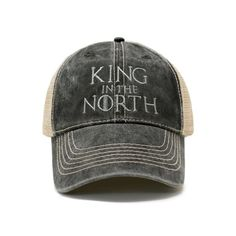 Game of Thrones Baseball Buckets, Baseball Cap, Game Of Thrones King, Bear Island, Trump Hat, The North Remembers, King In The North, Embroidered Hats, Mother Of Dragons