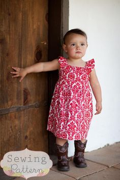 INSTANT DOWNLOAD- Tatum Dress (Size 12/18 months to Size 6) PDF Sewing Pattern and Tutorial