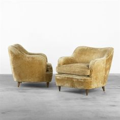 Lounge chairs from Hotel Bristol, Merano (pair) by Gio Ponti