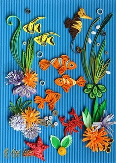 307 Best Quilling Sea Creatures Images Quilling Quilled Paper Art