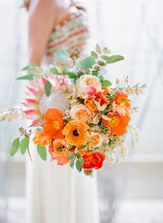 bouquet mariage, orange, wedding, flowers