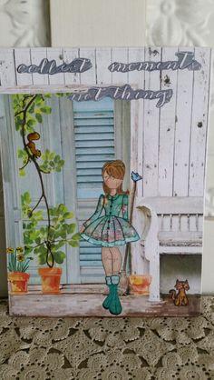 Prima doll canvas, house scene