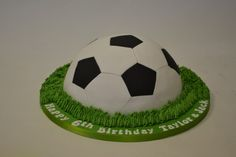 Half Football Cake