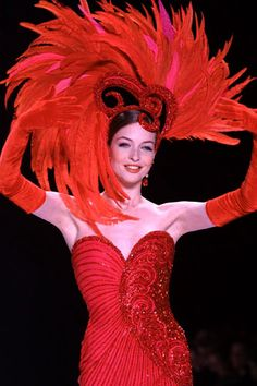 """Bob Mackie gown and headdress worn by Katie Perry in the music video """"Waking Up in Vegas"""""""