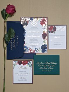 Invitations: Fanciful Florals - My New Orleans Watercolor Images, Destination Wedding Invitations, Envelope Liners, Winter Springs, Gold Foil, Letterpress, Envelopes, New Orleans, Floral Prints
