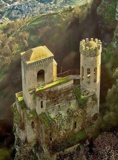 Erice Castle, Sicily, Italy.