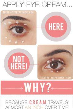 Hoe breng je oogcrème aan? Zie hier hoe het wel & niet moet!