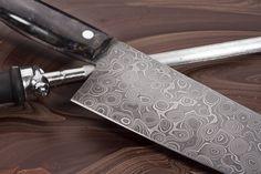 """8"""" Damascus Chef Knife-Handmade Knives"""
