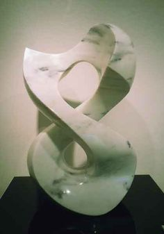 Halcyon is a sculpture created by Jeremy Guy. This piece is carved from Carrara marble. Abstract Sculpture, Abstract Art, Stone Sculpture, Carrara Marble, Unique Art, Knots, Art Pieces, Carving, Inspiration