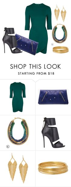 """...Slay of Course"" by tamaralynna ❤ liked on Polyvore featuring Topshop, Alexander McQueen, Stella & Dot, Giuseppe Zanotti, Panacea and Bold Elements"