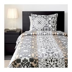 for futon prakttry duvet cover and pillowcases graywhite - Duvet Covers Ikea