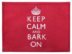 PB PAWS PET COLLECTION BY PARK B. SMITH Keep Calm and Bark Tapestry Indoor Outdoor Pet Mat *** For more information, visit image link.