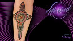 dagger forearm neo traditional color classic abstract tattoo artist tat tats ink inked tattoos skin art body sexy flow fit form beauty painting tattooing tattooer ta2 marked studios reno nevada love