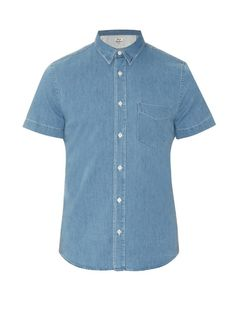 ACNE STUDIOS Isherwood Denim Shirt. #acnestudios #cloth #shirt