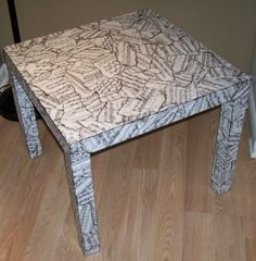 Great idea ... as we are intending to decoupage the IKEA Norden Dining Table, possibly with Chinese Chess board game and related pixs