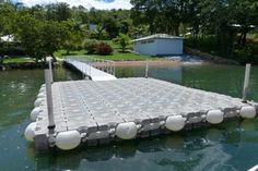 a perfect DIY project for any summer home on the water. The simple assembly allows you to customize your floating dock completely. Lake Dock, Boat Dock, Floating Dock, Boat Lift, Boat Stuff, River House, Boat Plans, Lake Life, Rustic Design
