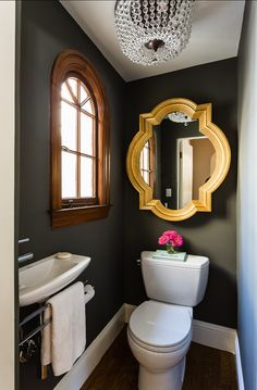 Powder room is a part from the bathroom and usually it is a half bathroom with a suitable vanity and bathroom sink with mirror. You can decorate your powder room in every single style, but it need to fit with… Continue Reading → Bad Inspiration, Bathroom Inspiration, Bathroom Ideas, Bathroom Remodeling, Remodeling Ideas, Bathroom Colors, Bathroom Grey, Bathroom Tiling, Paint Bathroom