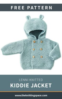 Feb 2020 - Get Your Baby Ready For The Day With This Lovable Lenni Knitted Kiddie Jacket Baby Cardigan Knitting Pattern Free, Baby Boy Knitting Patterns, Baby Sweater Patterns, Baby Patterns, Free Knitting, Finger Knitting, Scarf Patterns, Knitting Machine, Doll Patterns