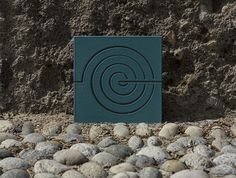 AEOLUS | Enamelled lava stone tile, inspired by the god Eolo. Production by Made a Mano